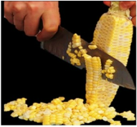 With the remove corn kernels
