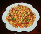 Chick peas chat / Chole chat