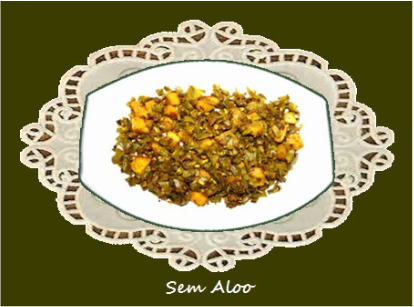 Sem Aloo / Flat Beans with potatoes
