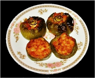 Bharwa Capsicum / Stuffed Bell peppers