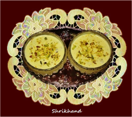Shrikhand / Sweet yogurt