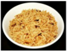 Rice with caramelized brown onion