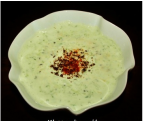Kheera ka Raita / Yogurt with cucumber