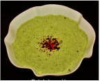 Palak ka Raita / Yogurt with Spinach
