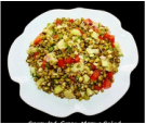 Sprouted Green Moong Bean Salad -India Salad