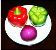 Red capsicum , Green Capsicum & Onion