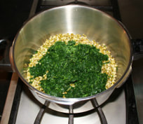 Add chopped spinach