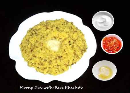 Moong Dal with Rice Khichdi