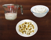 Milk, Yogurt & Cashews